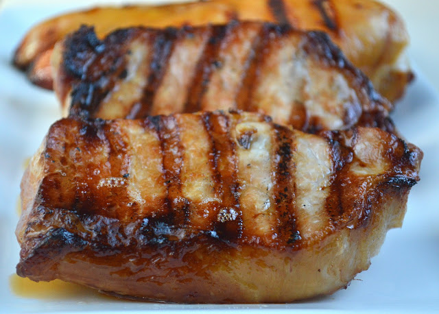 Marinated & Grilled Pork Chops