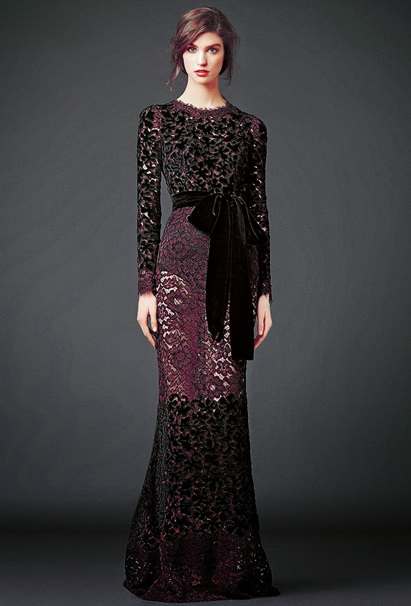 dolce and gabbana black and maroon lace modest maxi dress with sleeves stylish beautiful fashion Mode-sty jewish mormon lds christian pentecostal muslim islamic hijab tznius