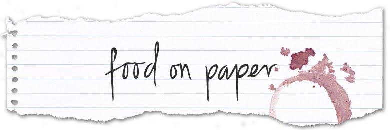 food on paper