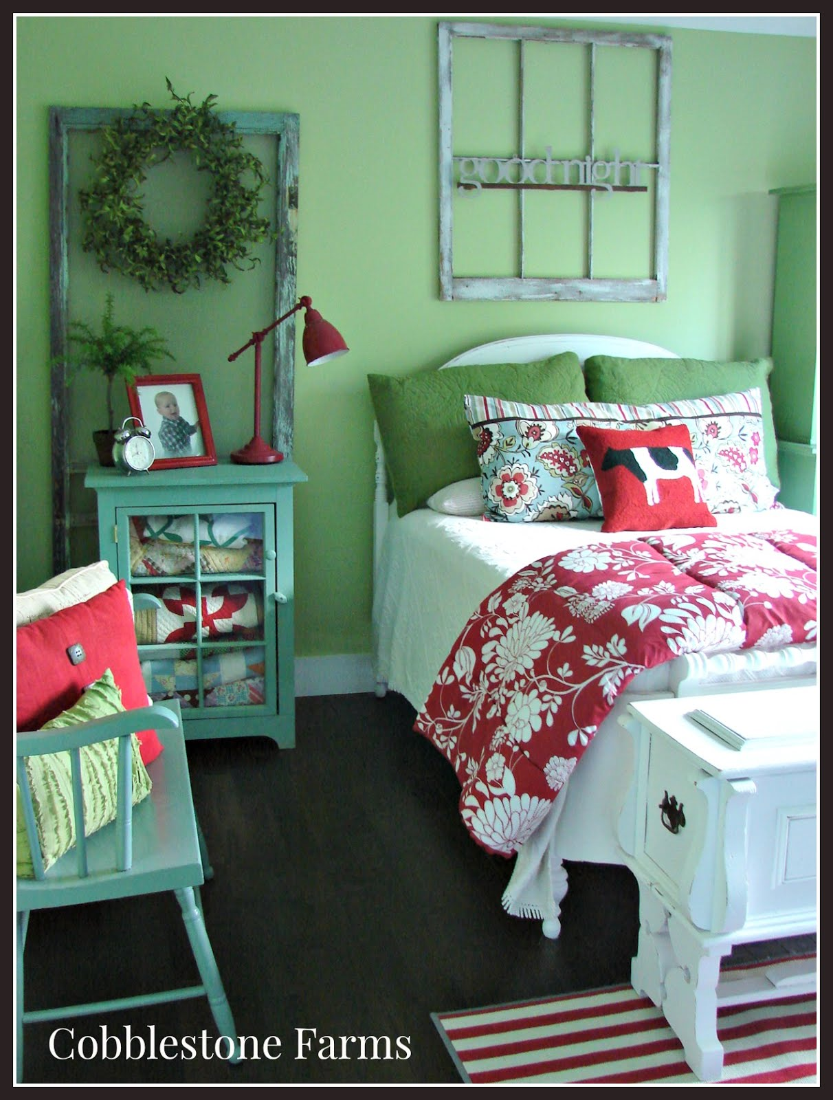 Cottage Style Guest Bedroom