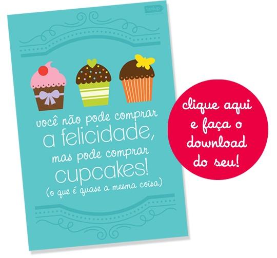 poster fofo para baixar e imprimir cupcakes o mundo de calíope