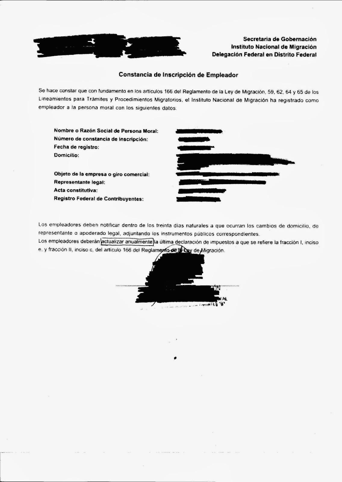 EMIGRANTES EN MÉXICO: ACTUALIZACIÓN DE CONSTANCIA DE INSCRIPCIÓN ...