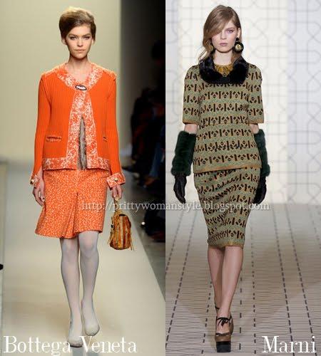 Ансамбли в стил 60-те пола и горна част