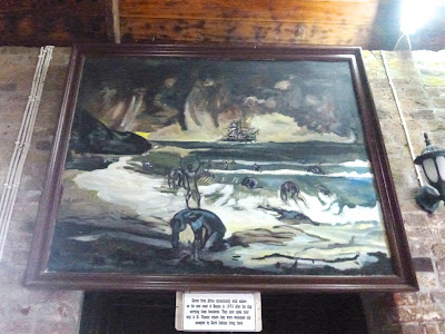 Pintura retratando escravos foragidos e naufragados que chegaram de Santa Lucia e outras ilhas para San Vincent