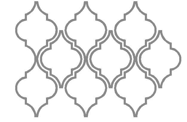 Moroccan shape stencil the image kid for Moroccan shapes templates