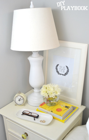 layering a nightstand