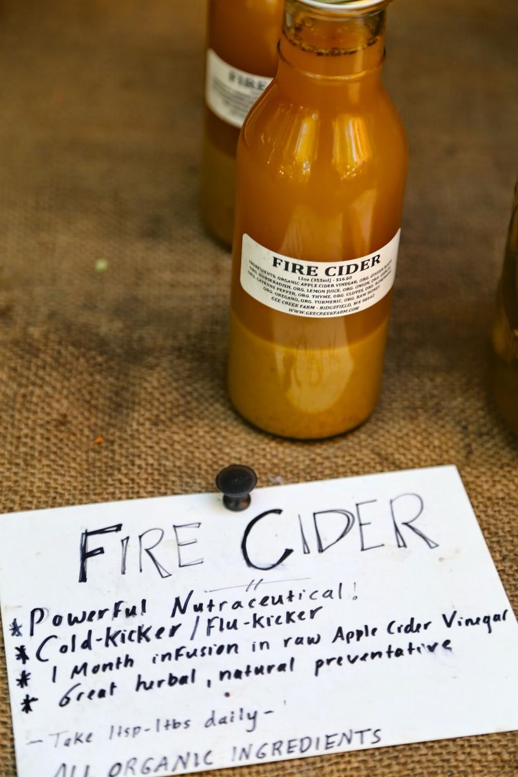 Artisanal fire cider, Portland farmers market