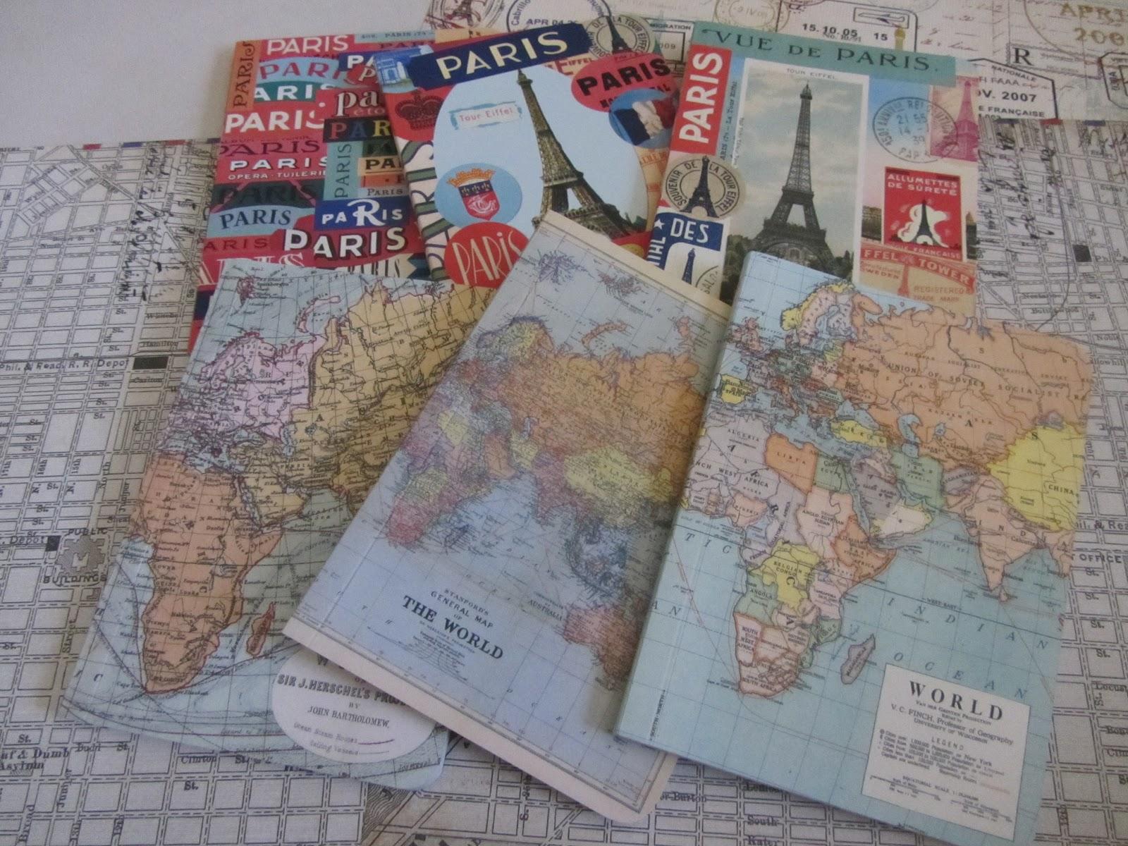 Scrapbook paper store - Travel Themed 12x12 Scrapbook Paper