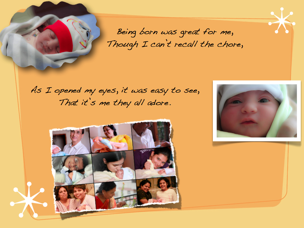 Saisha \'The Miracle\' and Aria \'The Blessing\': First Birthday Invite