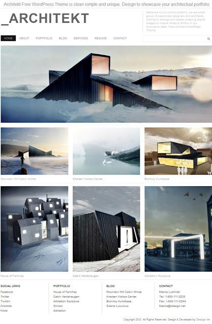 Architecture Wordpress Theme