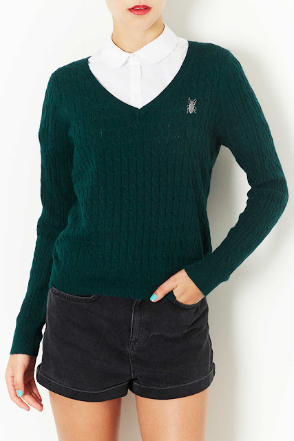 dark green jumper