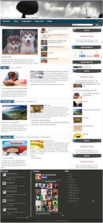 Template tin tức giao diện chuyên nghiệp cho blogspot