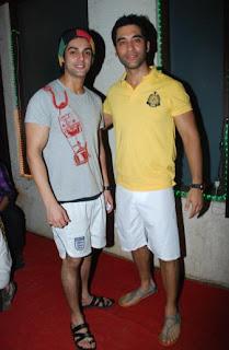 Karan Singh Grover with Kushal Punjabi