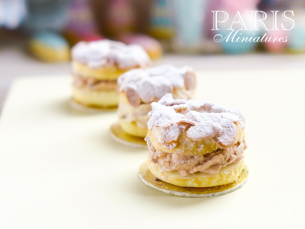 Miniature Paris Brest pastries