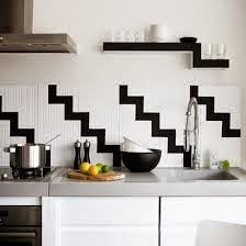 Tile look to backsplash