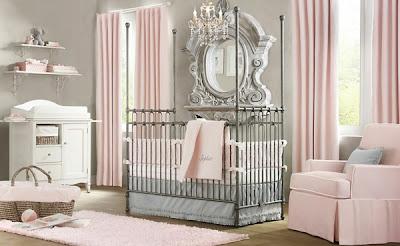 habitación bebé rosa
