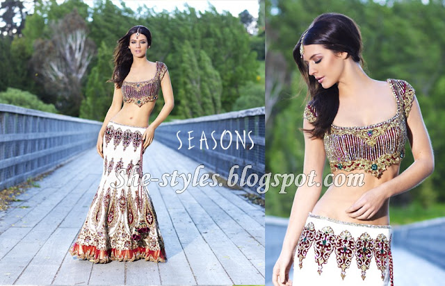 Embroidered Fish-Tail Lehenga