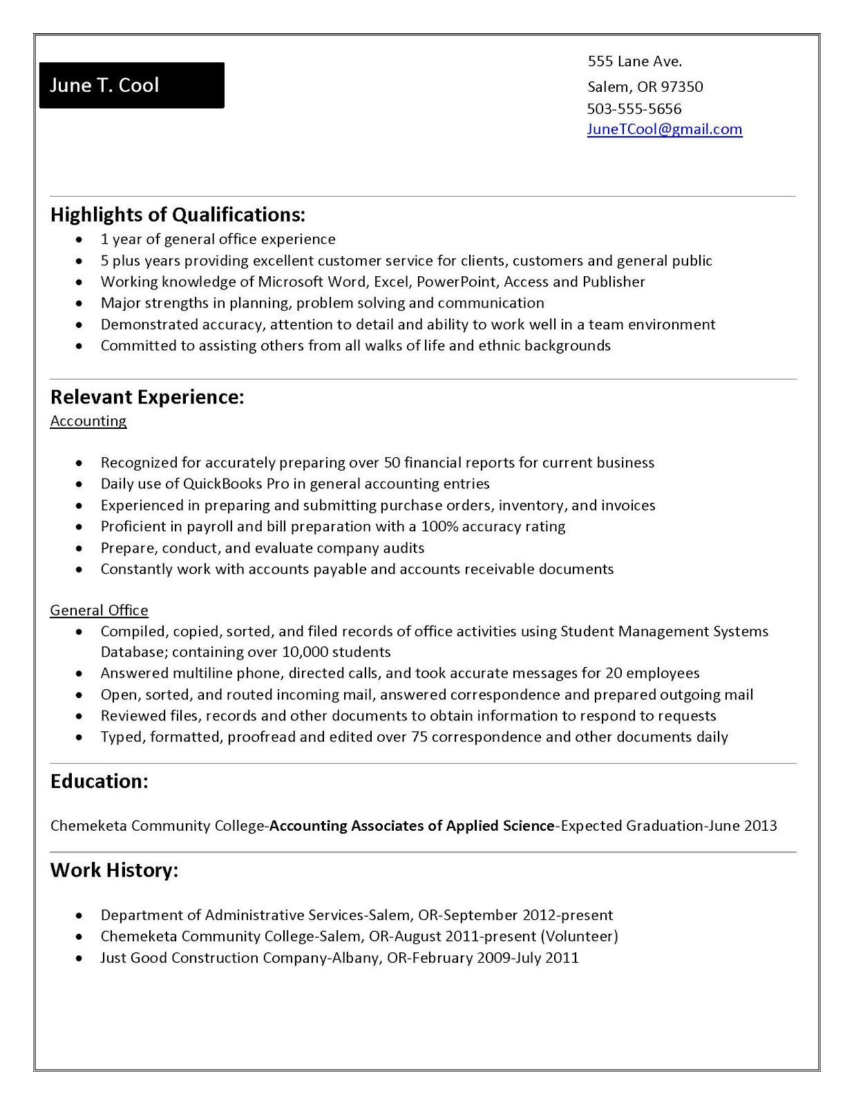 how to write a college student resume