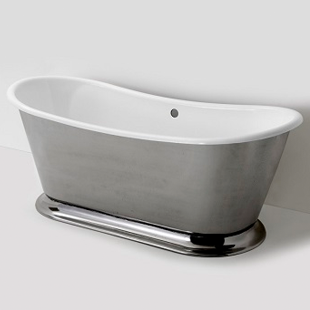 Waterworks Margaux Freestanding Oval Cast Iron Bathtub