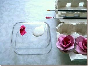 Rosas Rusticas con Cartones de Huevo, Manualidades Paso a Paso