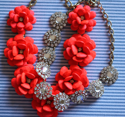 orange floral necklace