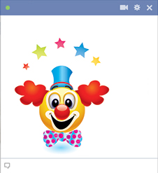 Clown Facebook emoticon