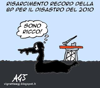 ecologia, petrolio, disastri ambientali, satira vignetta