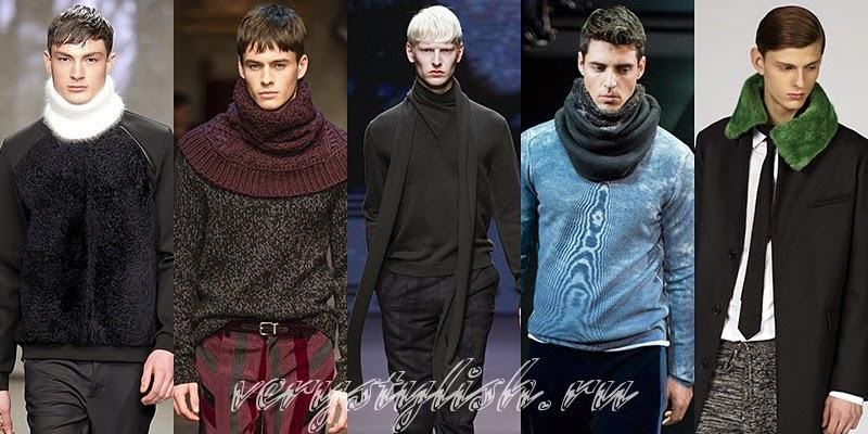 Winter 2015 Men's Scarves Fashion Trends