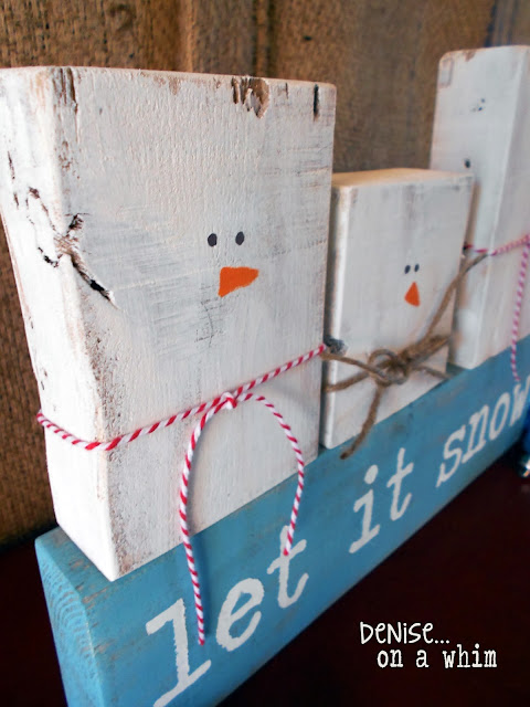 Cute and easy 2x4 snowman decor