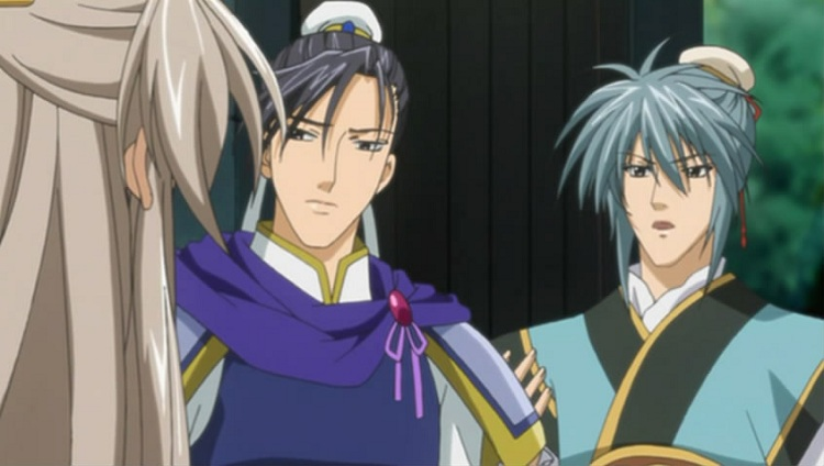 Ran Shogun and Li Kouyuu talking with Ryuuki