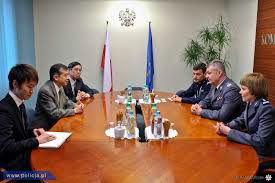 Wasiak meeting with Japanese delegates