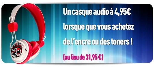 Un casque audio pour 4.95€