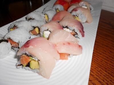 Sushi homemade 3: Sushi party uramaki ricoperto pesce spada