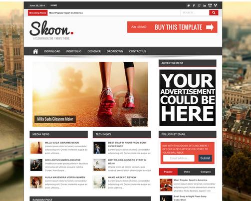 Shoon Responsive Blogger Template