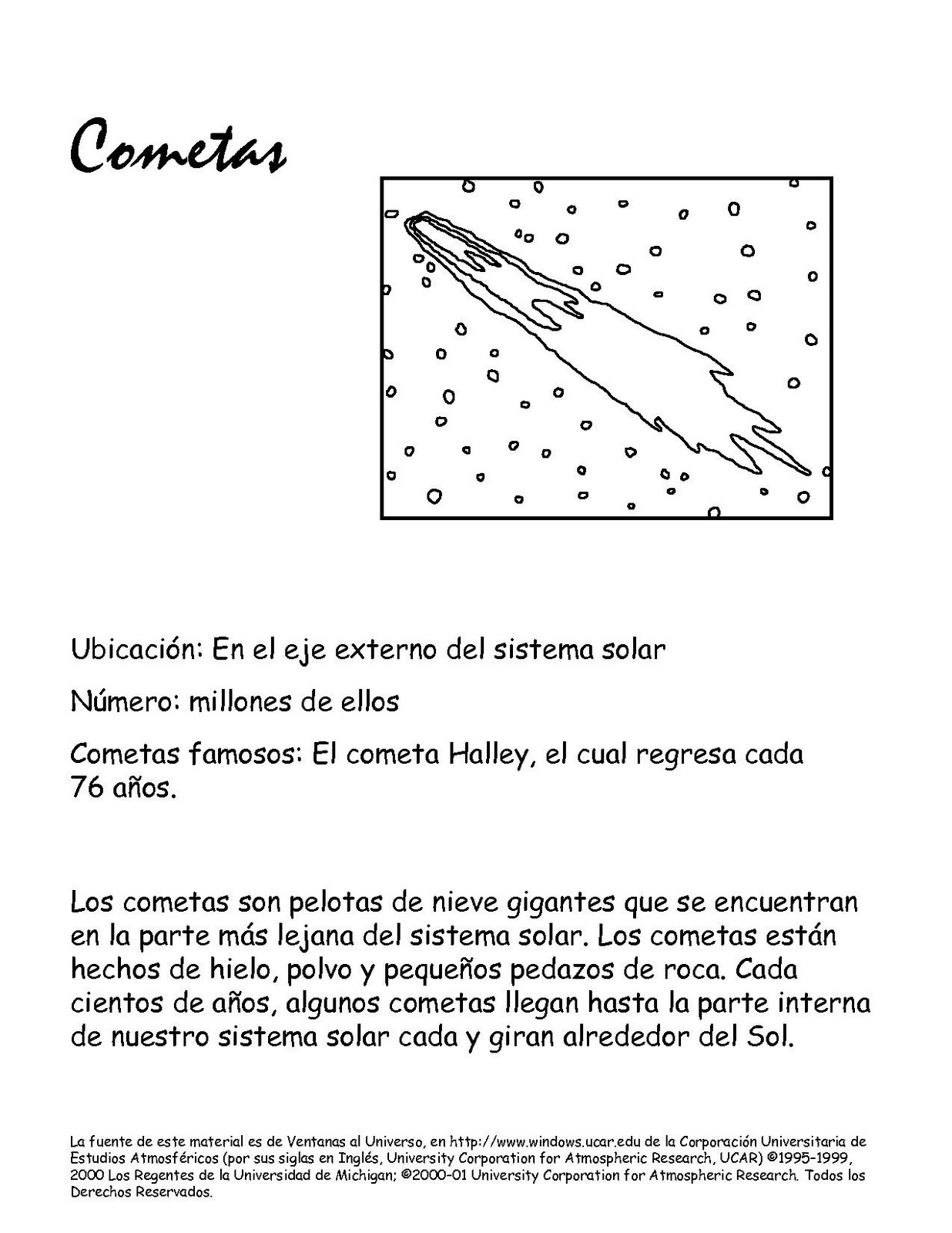 Colorear COMETAS