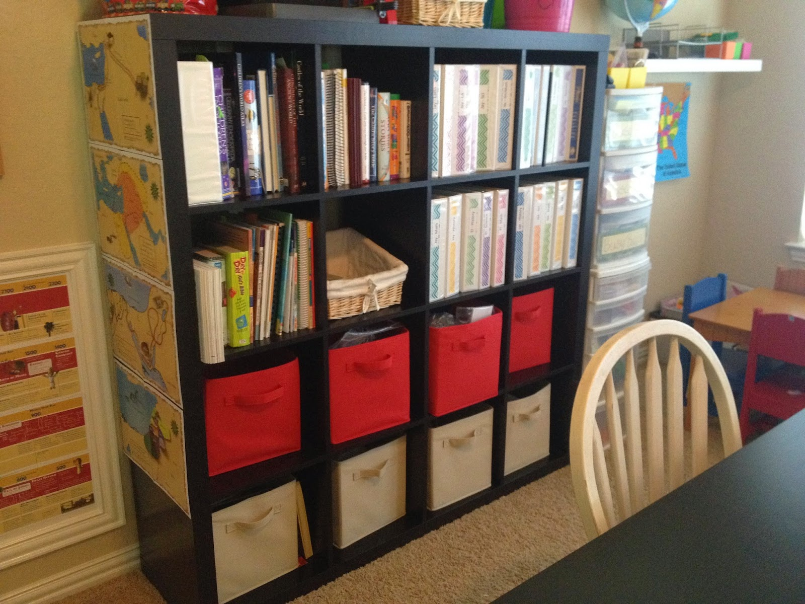A tour of our homeschool room lextin eclectic here is our other bookshelf this black shelf holds teacher manuals for me and notebooks for each of the kids i spent some time with the printer and gumiabroncs Choice Image