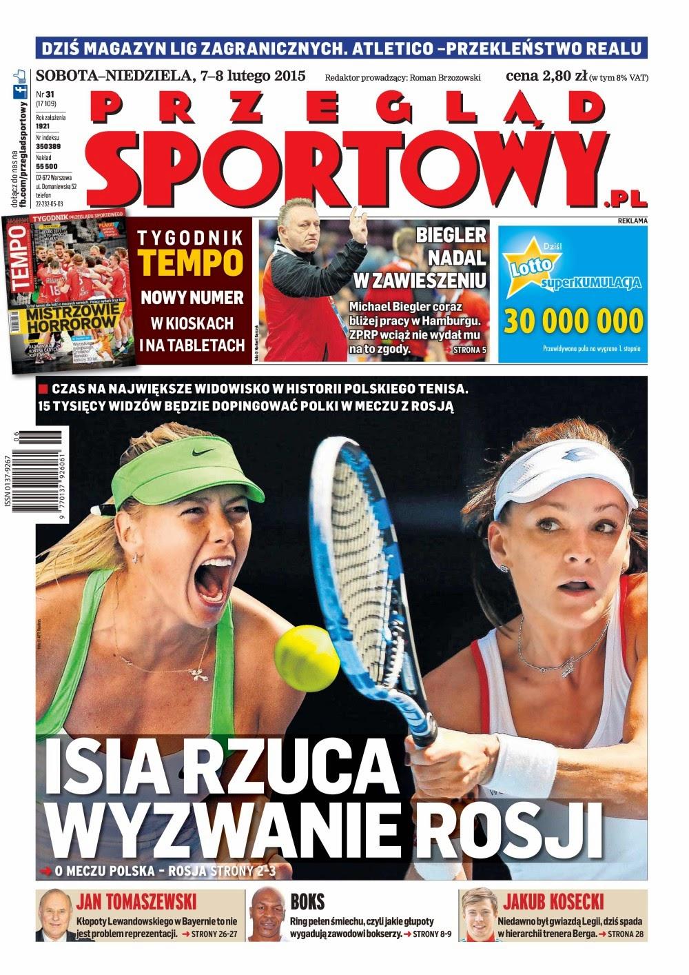 Tennis player: Agnieszka Radwanska, Maria Sharapova - Przegląd Sportowy Poland