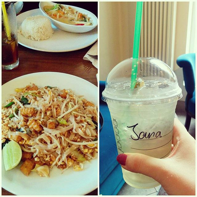 Asiatischse Essen und Starbucks