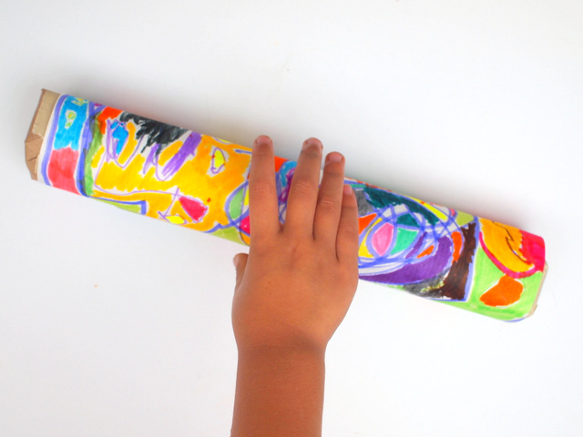 Make a rainmaker with kids- super easy craft for preschoolers!