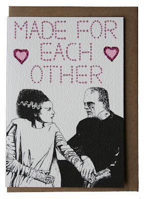Frankenstein and Bride, Made for Each Other Card by Skinny Nib