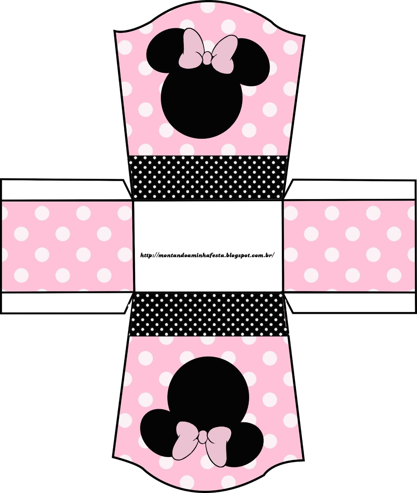 Montando minha festa minnie rosa e preto for Cajas personalizadas con fotos