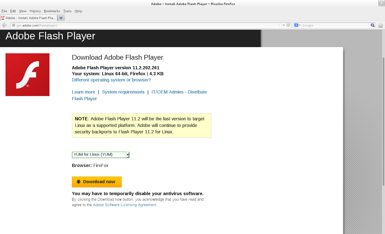 Technozeal Install Adobe Flash Player On Fedora 18