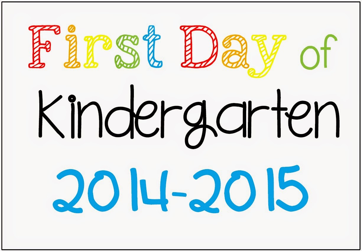 FREE First Day of School Picture Posters 2014-2015
