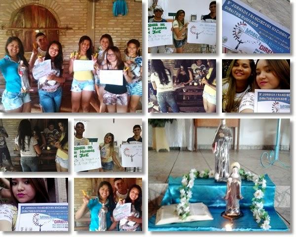 Fraternidade Nossa Senhora dos Anjos Piripiri - PI na 5ª Jornada Franciscana Nacional Pelos Direitos Humanos
