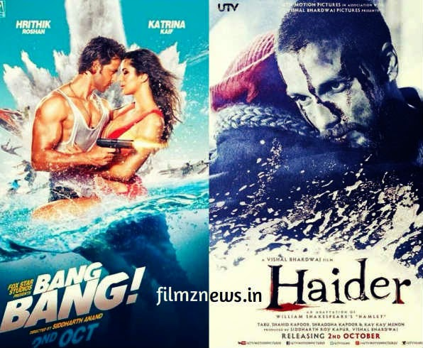 Hrithik's Bang Bang and  Shahid's Haider Release Tomorrow