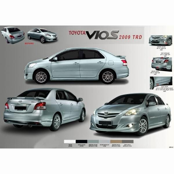 Body Kit Toyota Vios TRD 2009