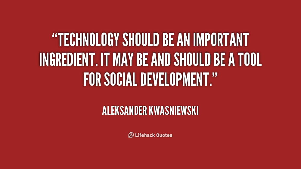 technology is important Technology is an integral and important part of my life like most i use technology such as computers and the internet to complete schoolwork, projects, and to conduct research technology helps to speed up the learning process for students like myself because it creates a more efficient learning environment in many ways.