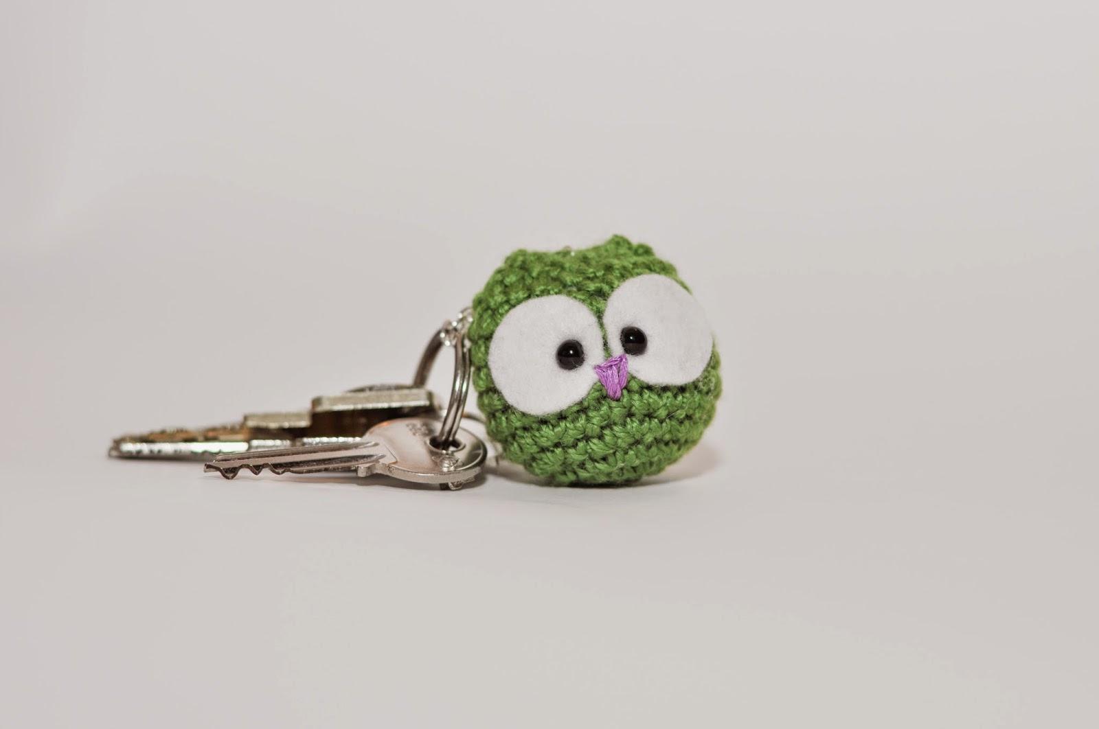 Kvačkana sovica obesek za ključe