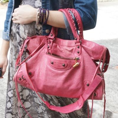 AwayFromTheBlue Blog | Balenciaga RH classic city in 2010 sorbet pink