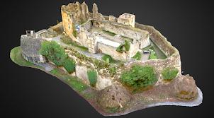 Sketchfab: le château De Franchimont en 3D - Theux - Belgique